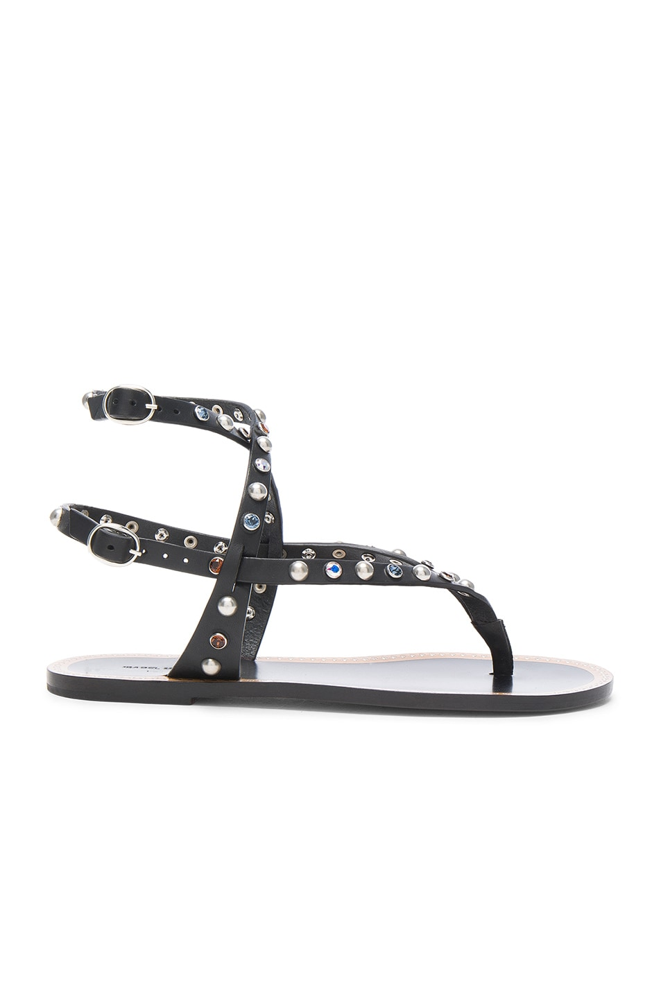Image 1 of Isabel Marant Leather Audrio Sandals in Black