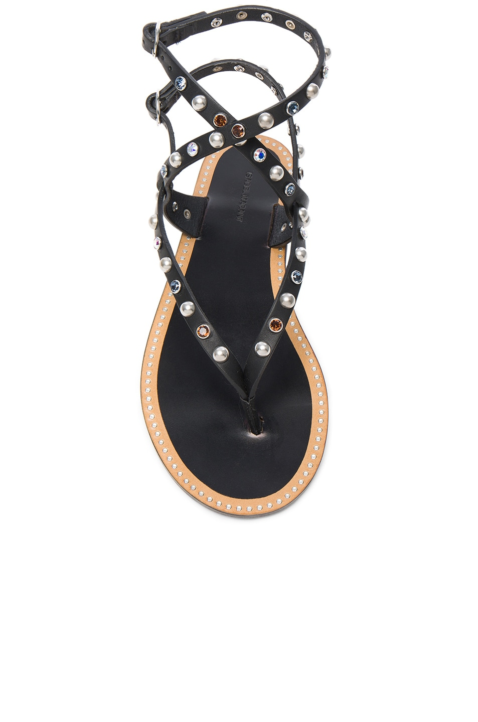 Image 4 of Isabel Marant Leather Audrio Sandals in Black