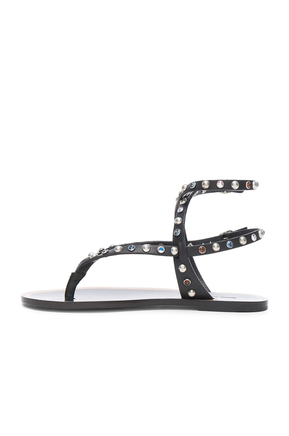 Image 5 of Isabel Marant Leather Audrio Sandals in Black
