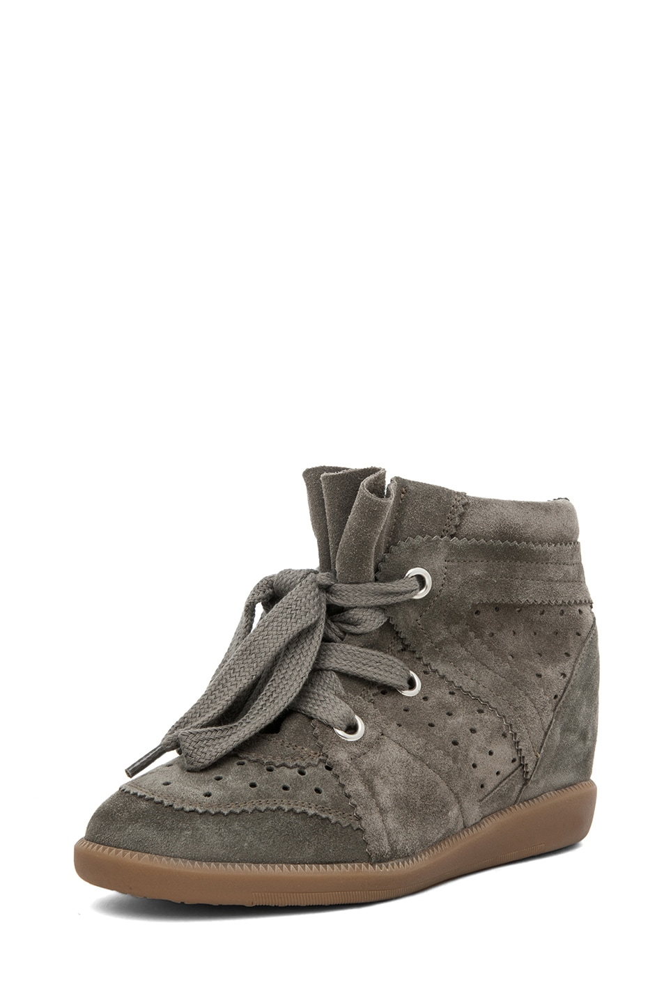 Image 2 of Isabel Marant Bobby Sneaker in Gris