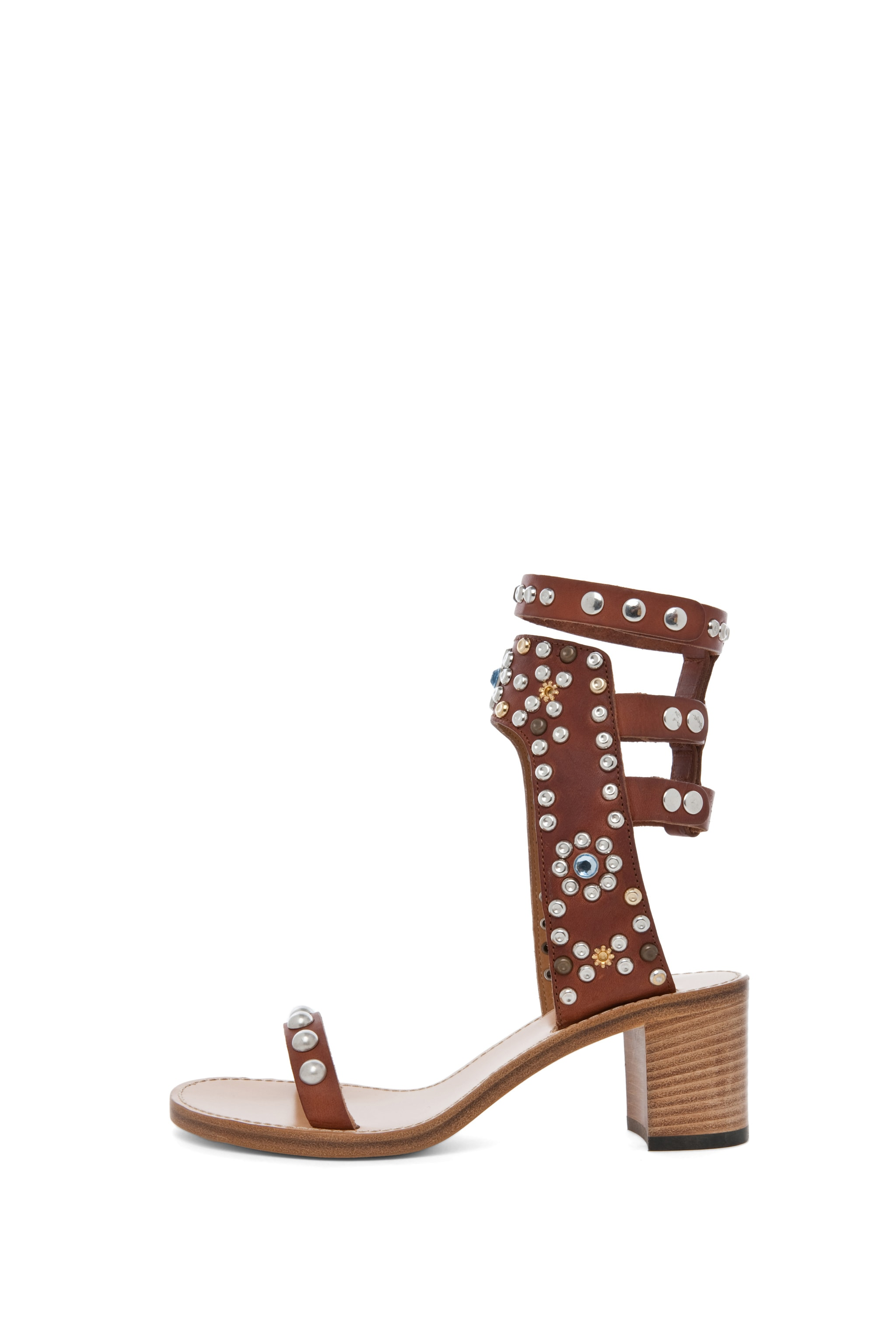 Image 1 of Isabel Marant Caroll Strassed and Studded Sandal in Cognac