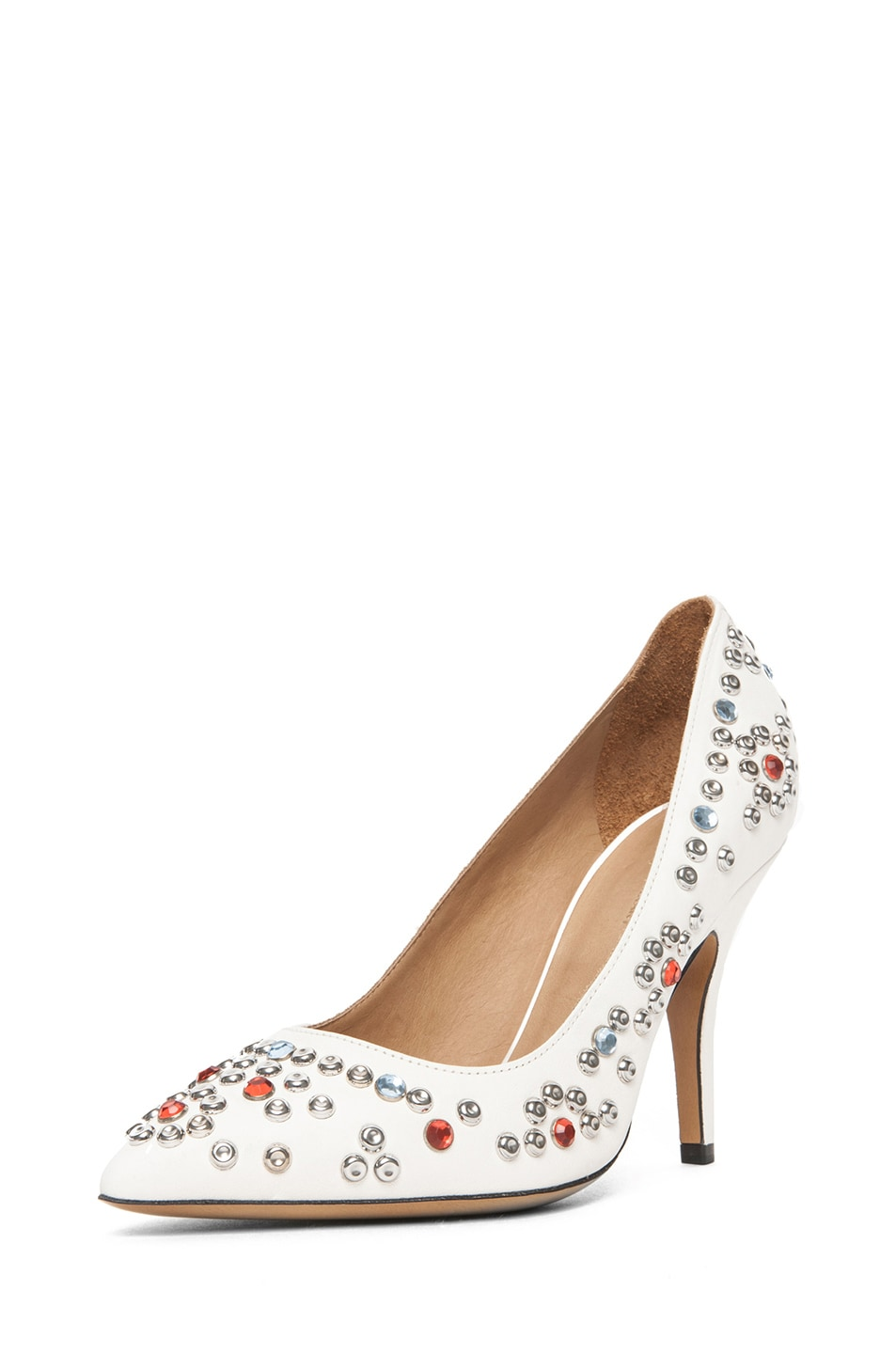 Image 2 of Isabel Marant Clemence Studded Heel in White