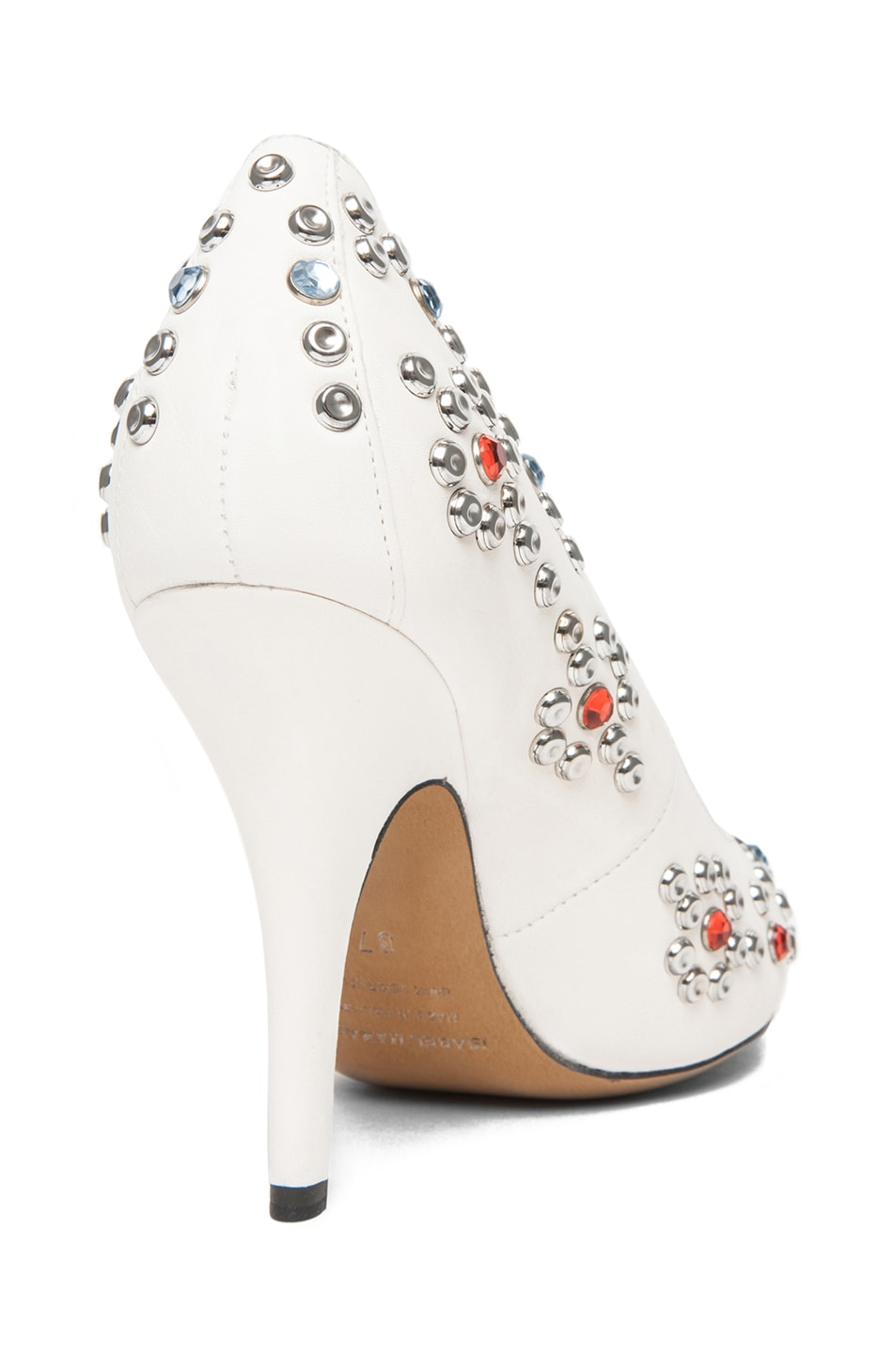 Image 3 of Isabel Marant Clemence Studded Heel in White
