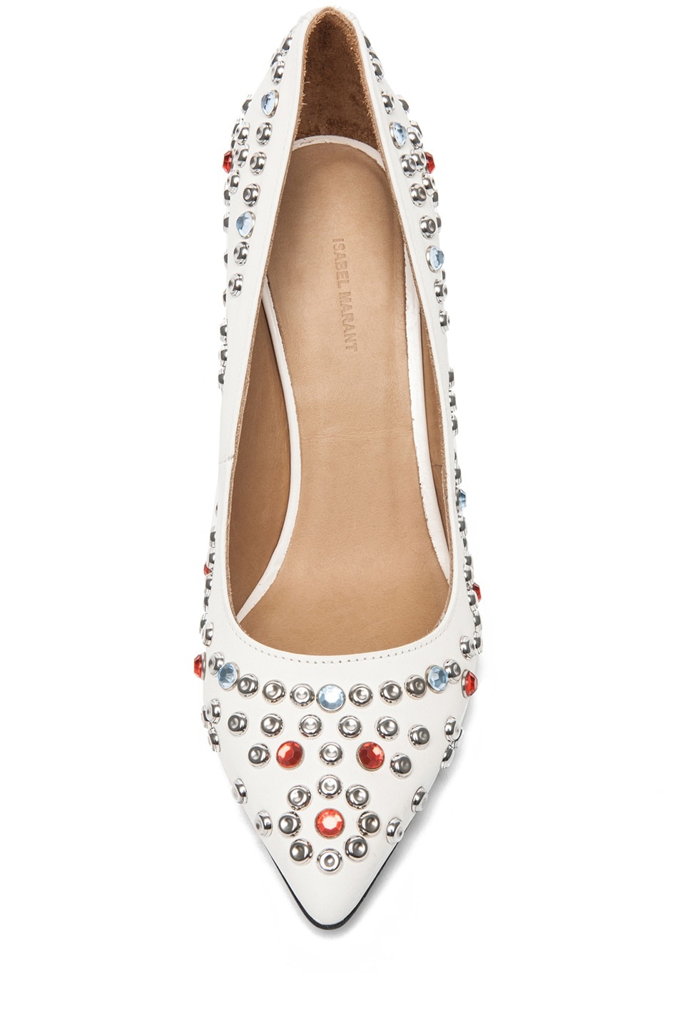 Image 4 of Isabel Marant Clemence Studded Heel in White