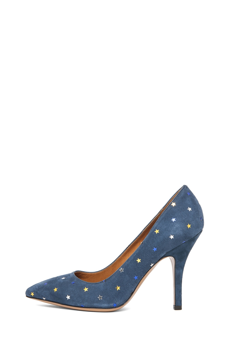Image 1 of Isabel Marant Anaid Suede Star Pumps in Navy