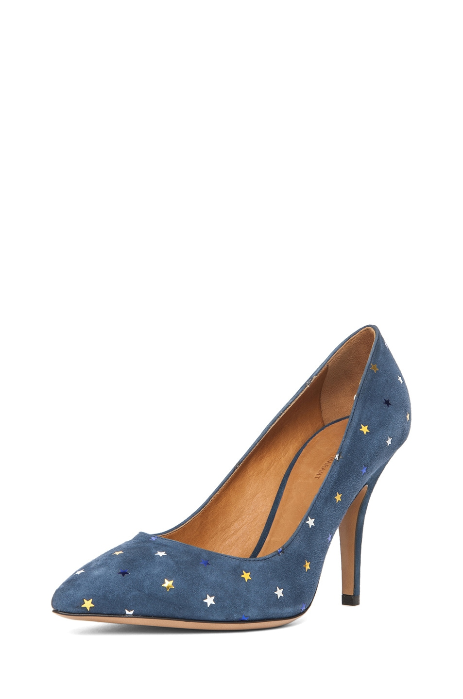 Image 2 of Isabel Marant Anaid Suede Star Pumps in Navy
