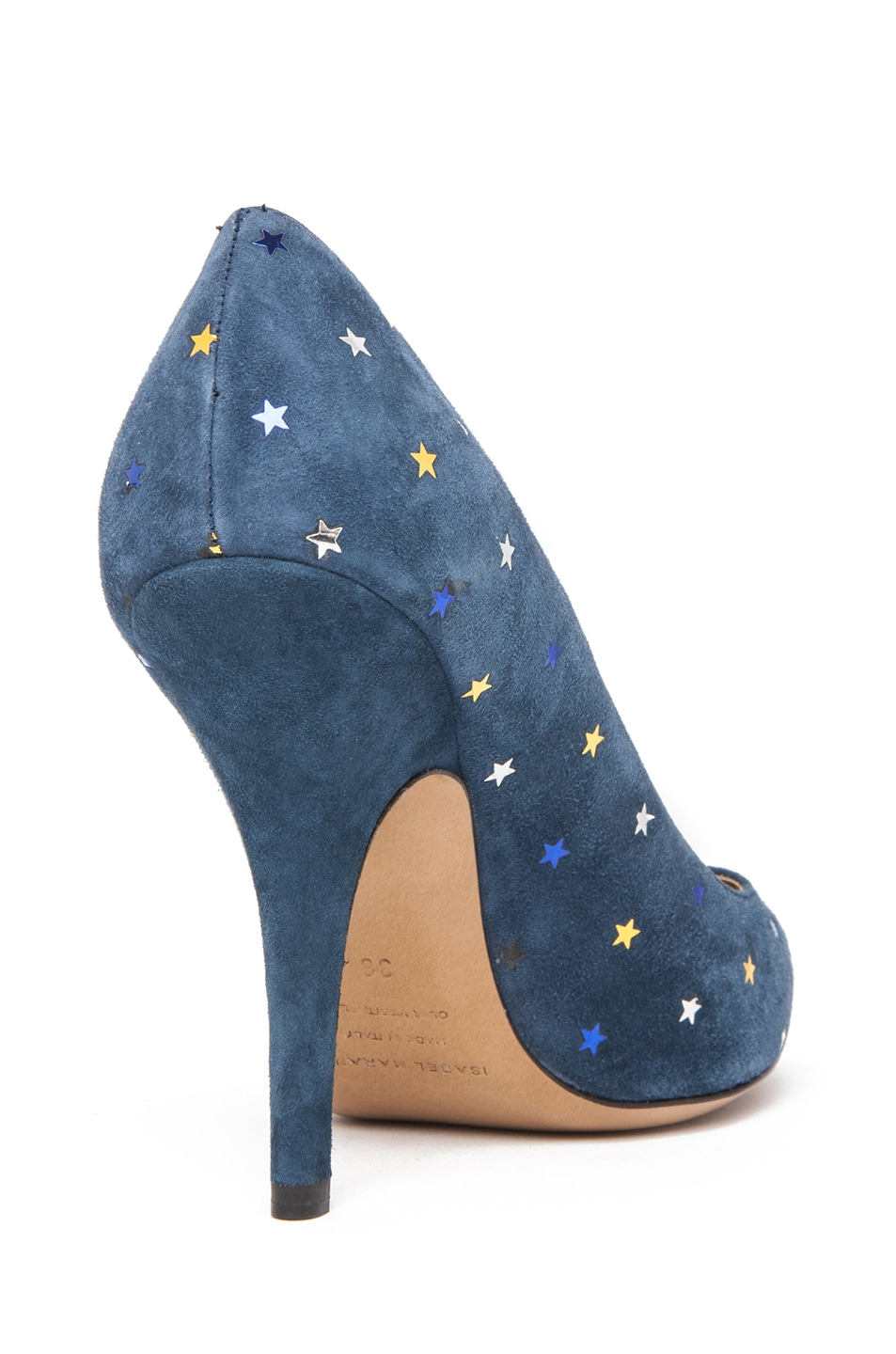 Image 3 of Isabel Marant Anaid Suede Star Pumps in Navy