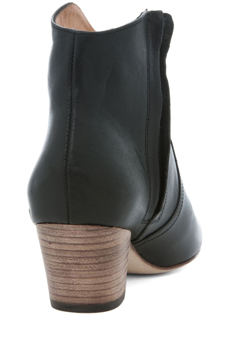 Image 3 of Isabel Marant Dicker Leather Bootie in Noir