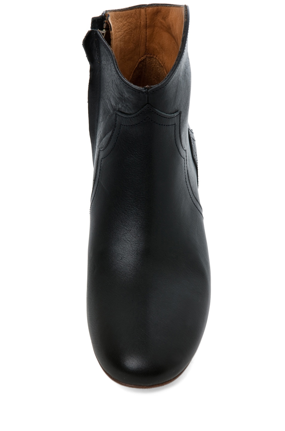 Image 4 of Isabel Marant Dicker Leather Bootie in Noir