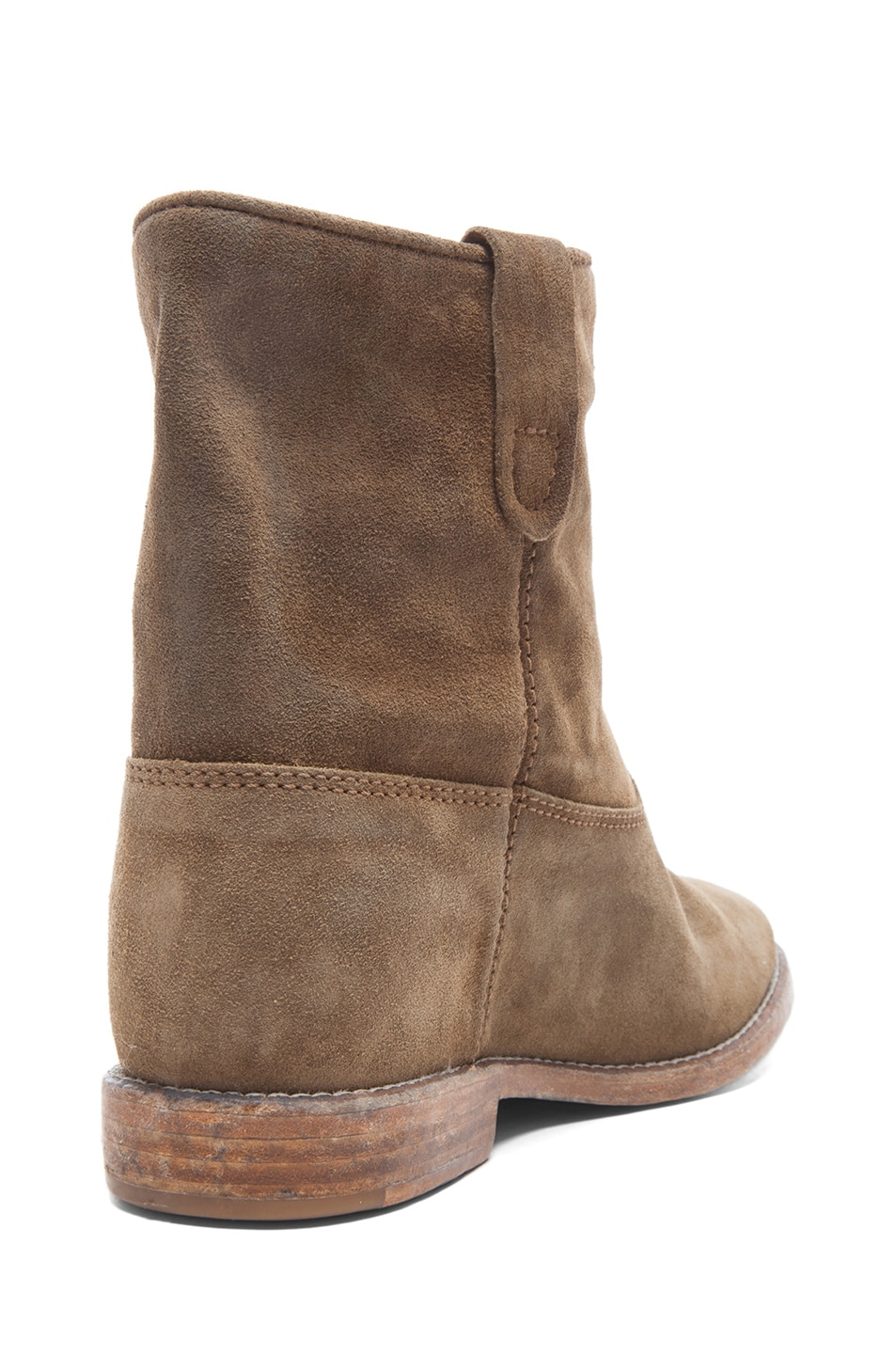 Image 4 of Isabel Marant Crisi Calfskin Velvet Leather Boots in Brown
