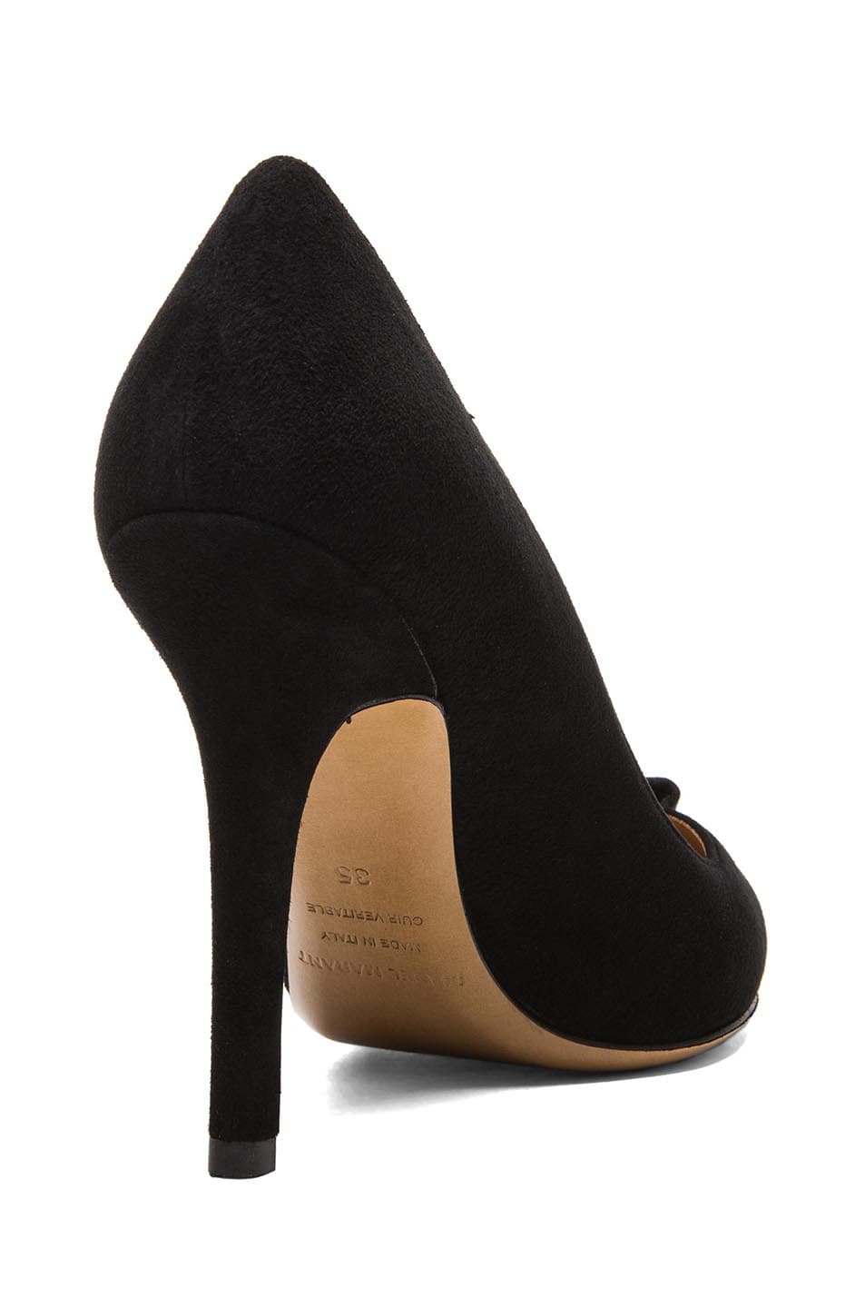 Image 3 of Isabel Marant Poppy Suede Pumps in Black