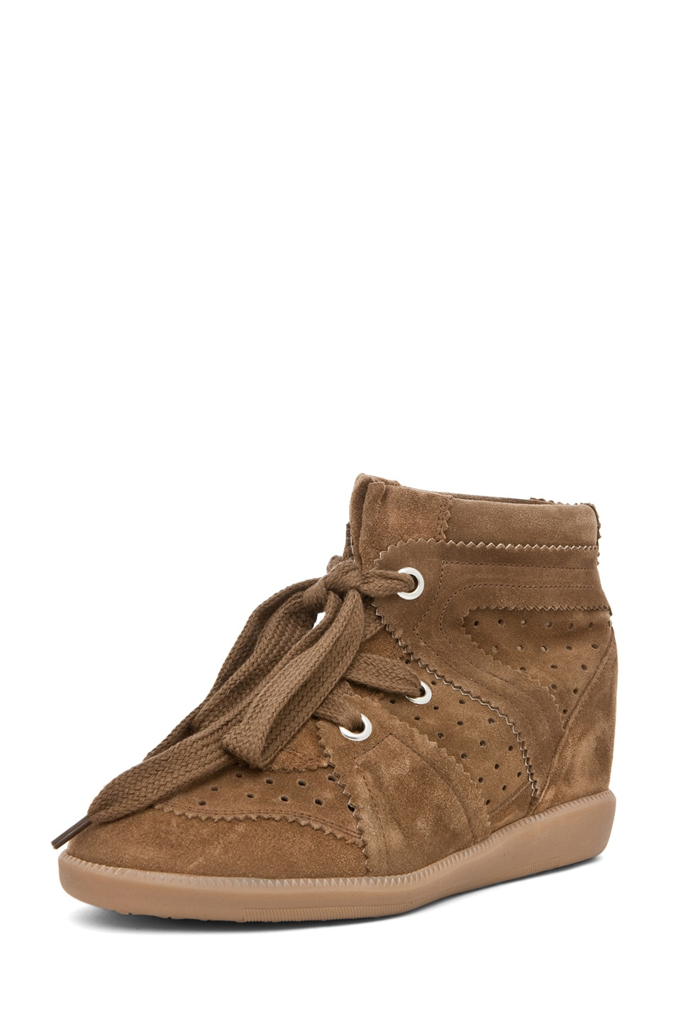 Image 2 of Isabel Marant Bobby Sneaker in Camel