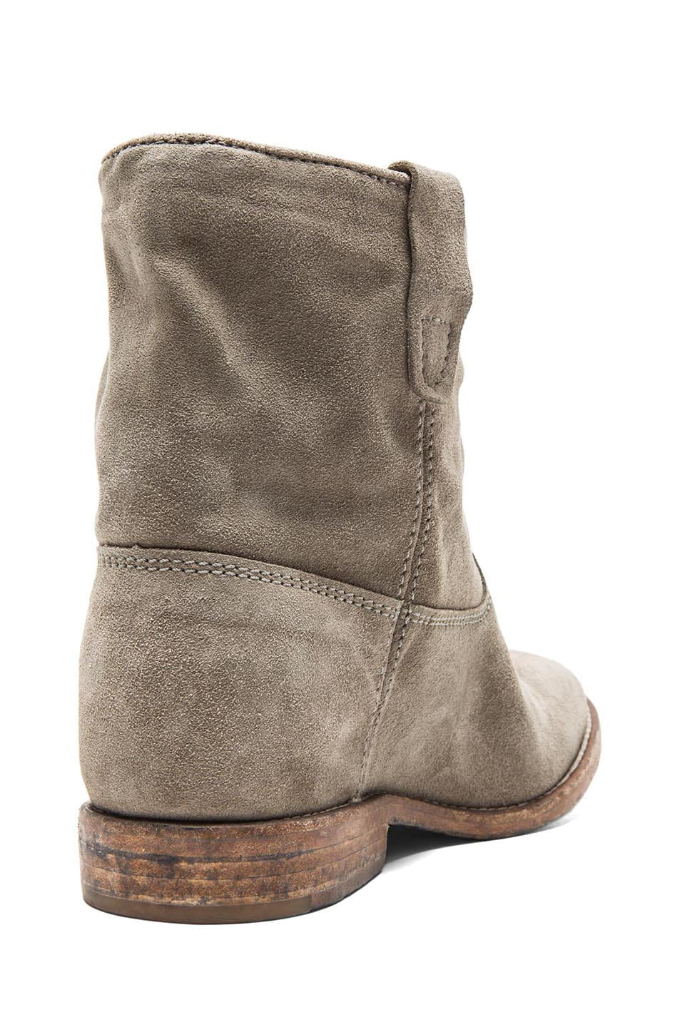 Image 3 of Isabel Marant Crisi Calfskin Velvet Leather Boots in Taupe