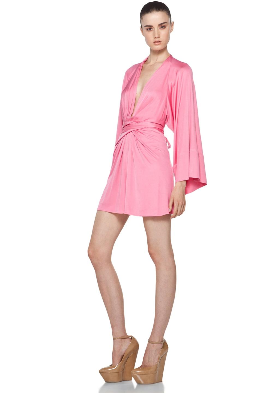 Image 2 of Issa Short Kimono Dress in Cosmo