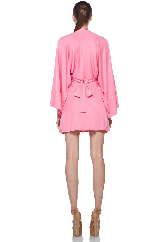 Image 4 of Issa Short Kimono Dress in Cosmo