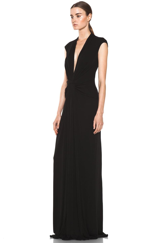 Image 2 of Issa Silk Maxi Dress in Black