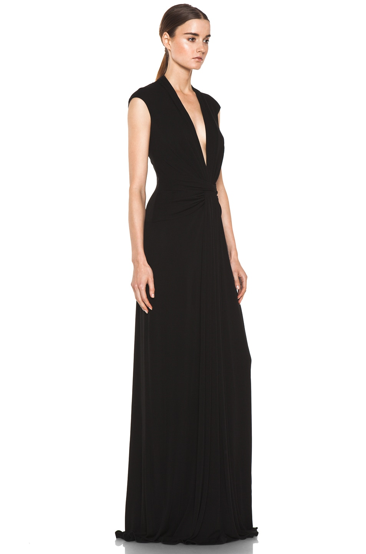 Image 3 of Issa Silk Maxi Dress in Black