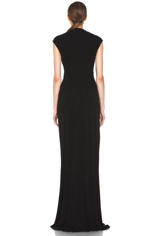 Image 4 of Issa Silk Maxi Dress in Black