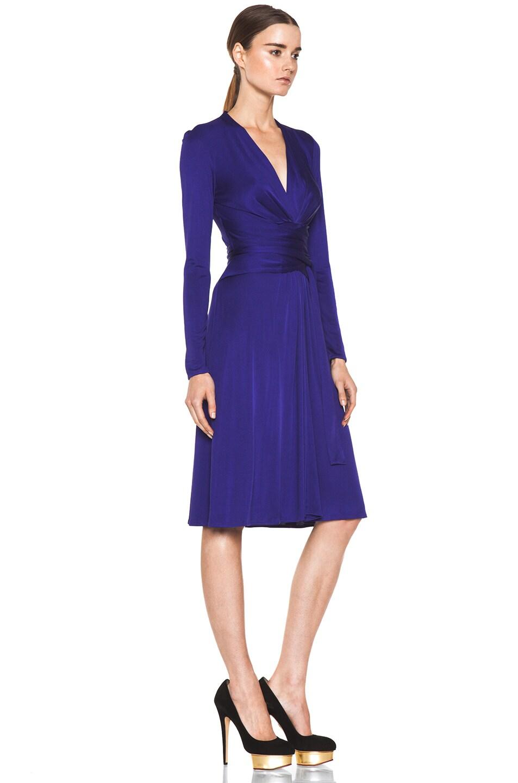Image 3 of Issa Wrap Dress in Indigo