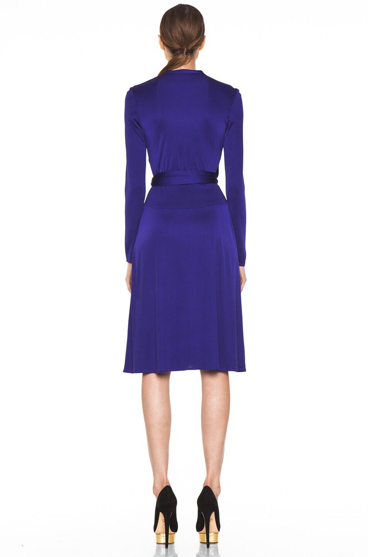 Image 4 of Issa Wrap Dress in Indigo