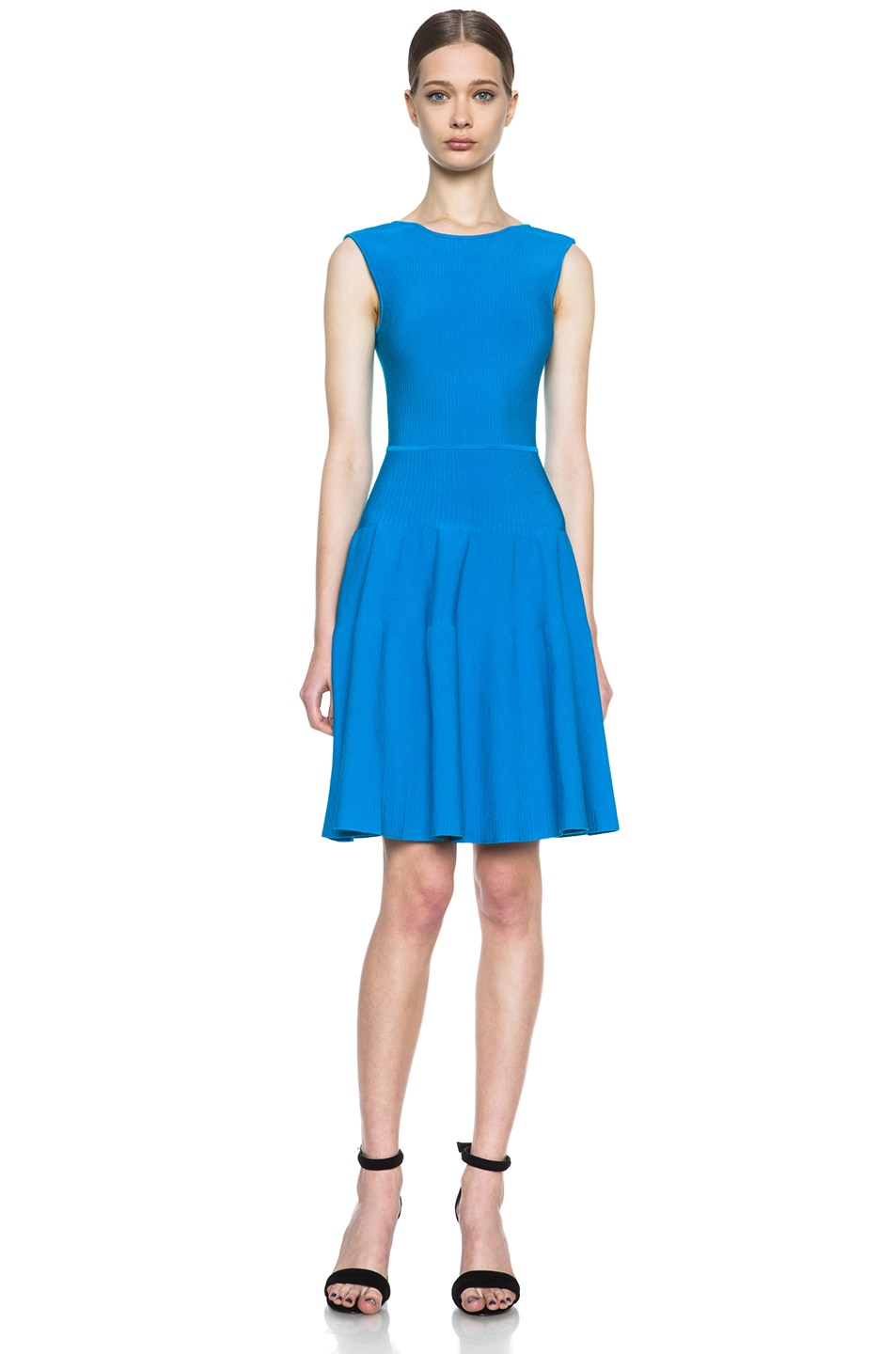 Image 1 of Issa Rib Knit Dress in Sea Blue