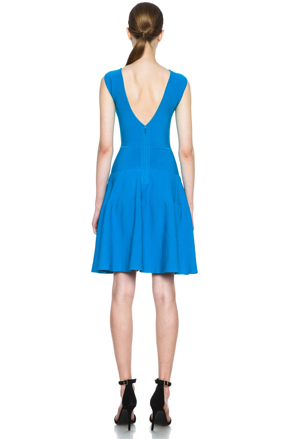 Image 4 of Issa Rib Knit Dress in Sea Blue