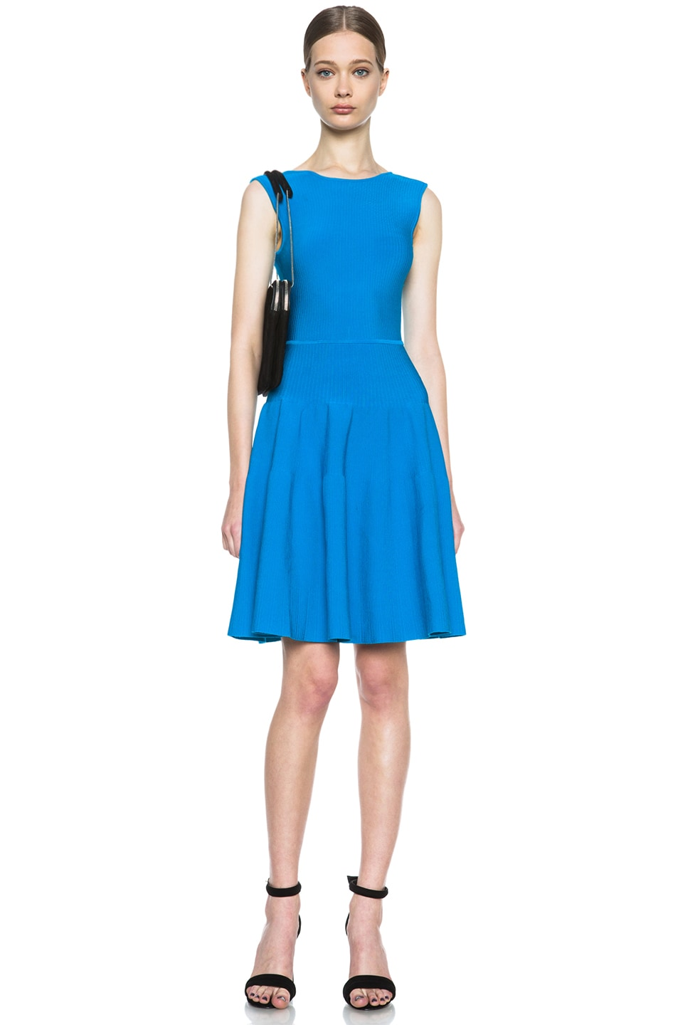 Image 5 of Issa Rib Knit Dress in Sea Blue