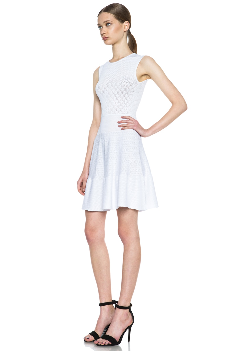Image 2 of Issa Rib Knit Dress in White