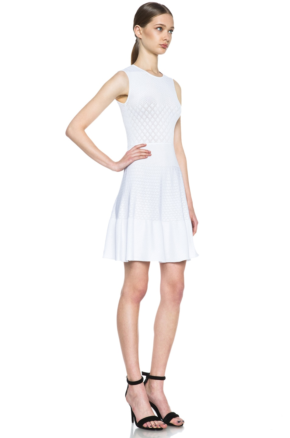 Image 3 of Issa Rib Knit Dress in White