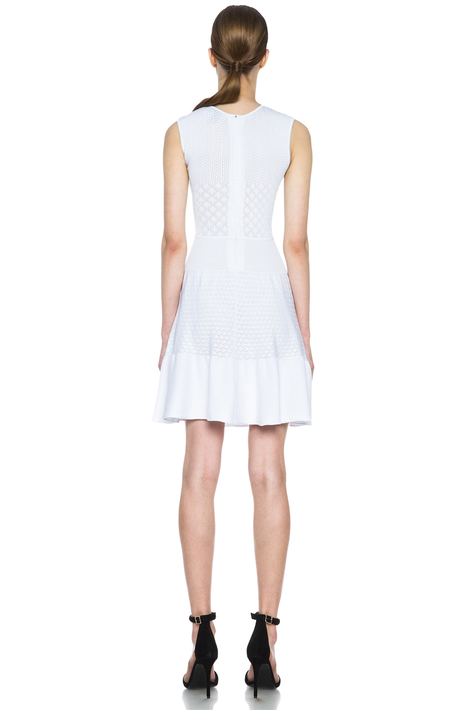 Image 4 of Issa Rib Knit Dress in White