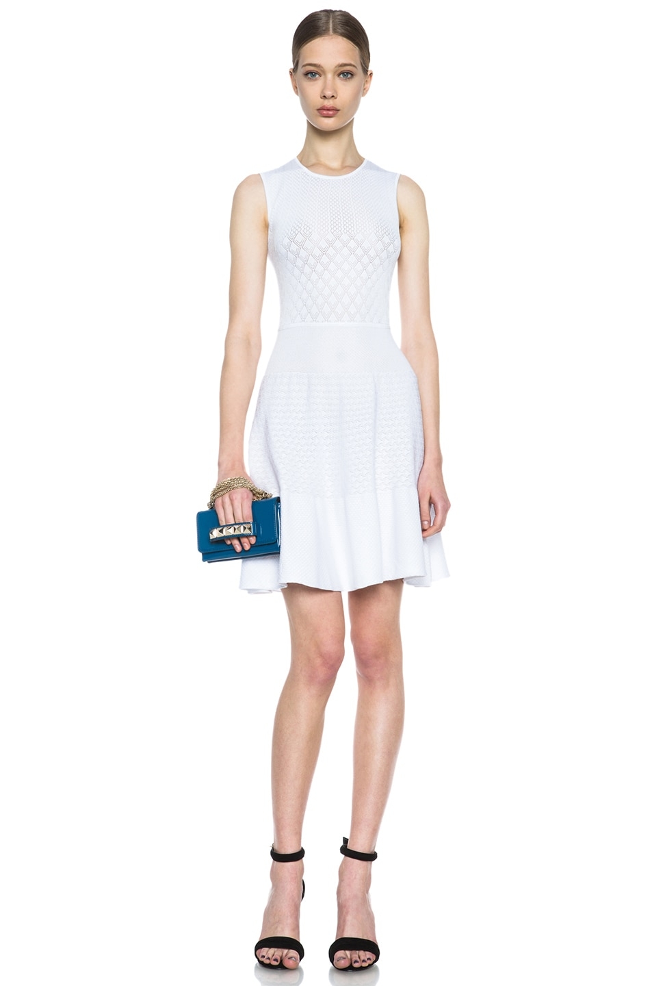 Image 5 of Issa Rib Knit Dress in White