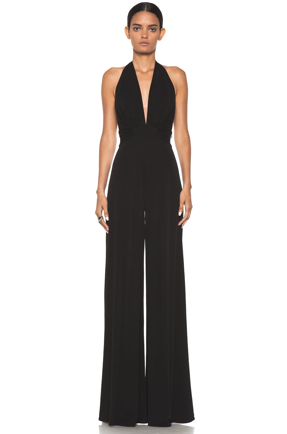 Image 1 of Issa Halter Silk Jumpsuit in Black