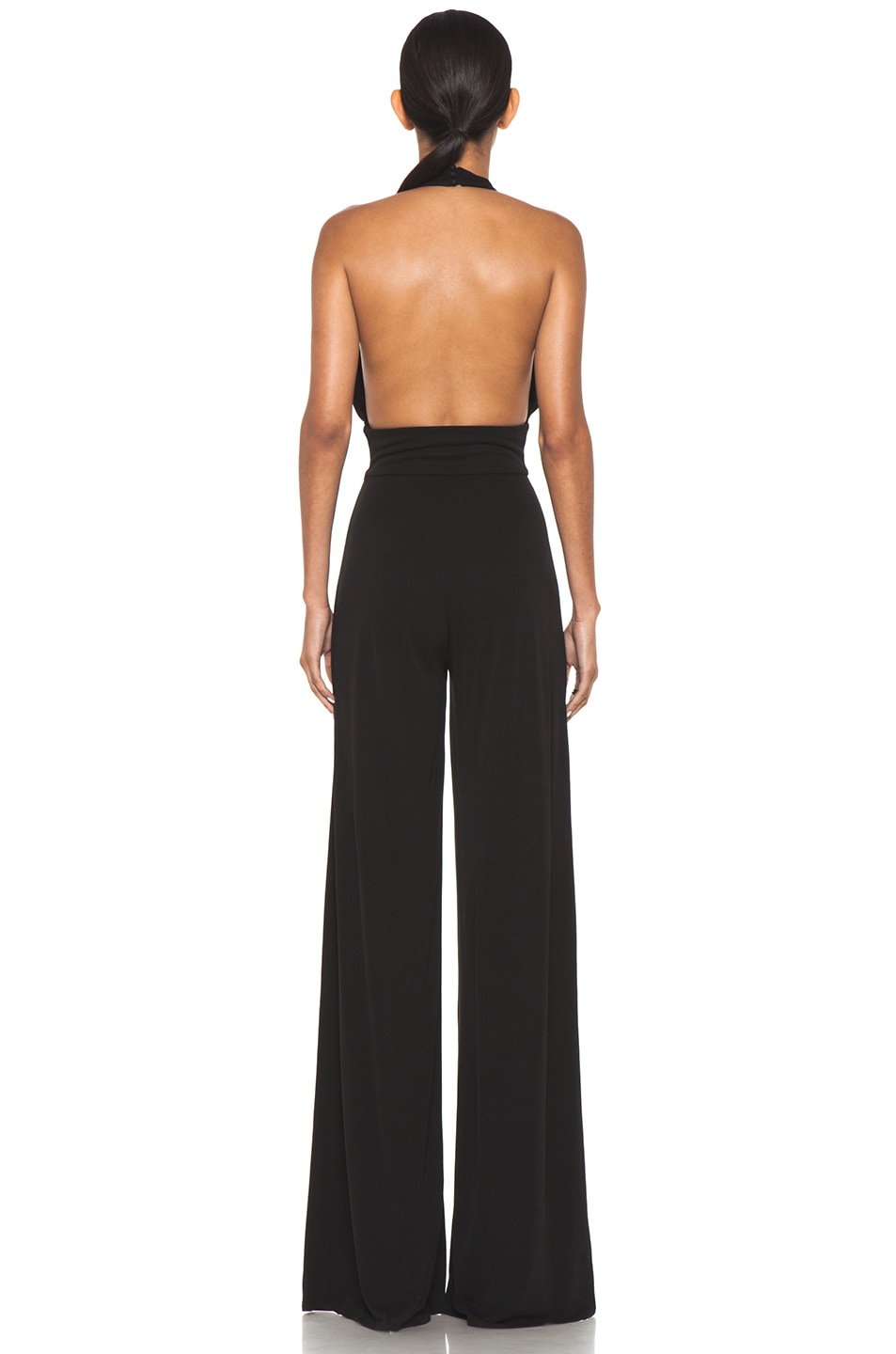 Image 4 of Issa Halter Silk Jumpsuit in Black