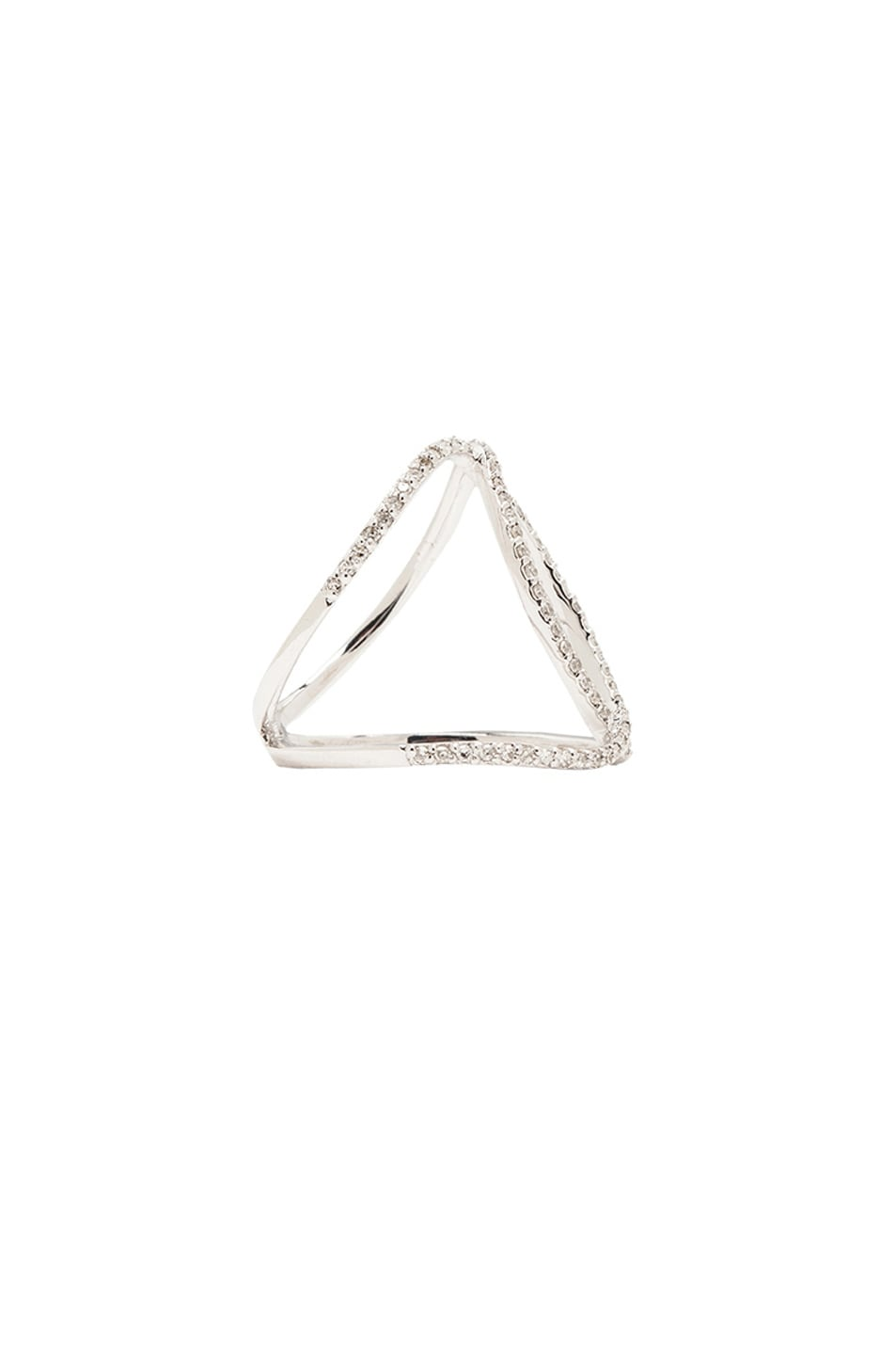 Image 2 of Jacquie Aiche 14K Pave Overlap Circle Ring in White Gold