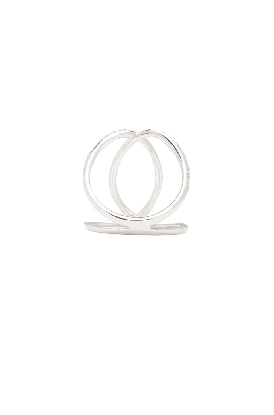 Image 3 of Jacquie Aiche 14K Pave Overlap Circle Ring in White Gold