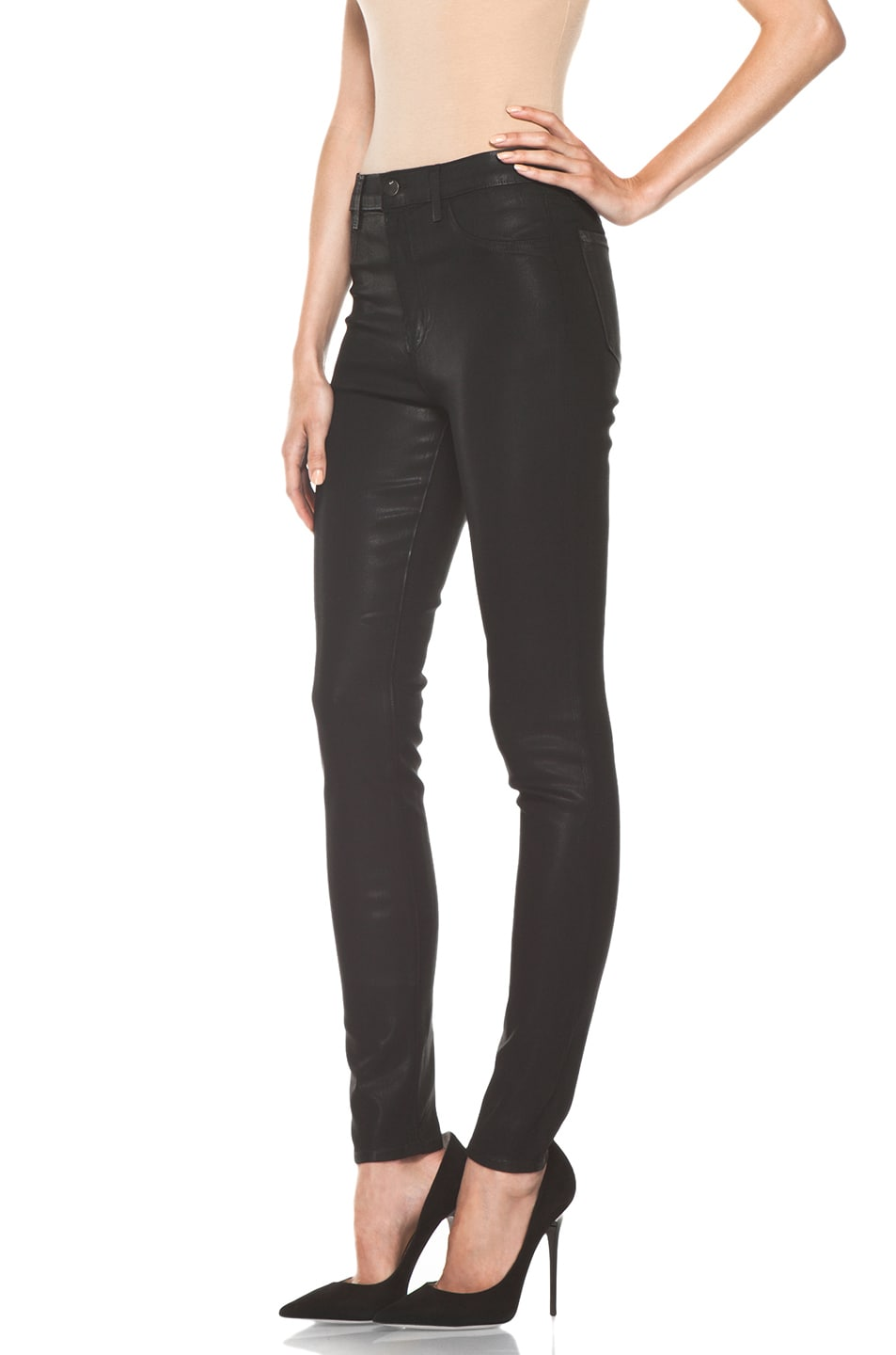 Image 2 of J Brand Maria High Rise Skinny Jean in Coated Stealth