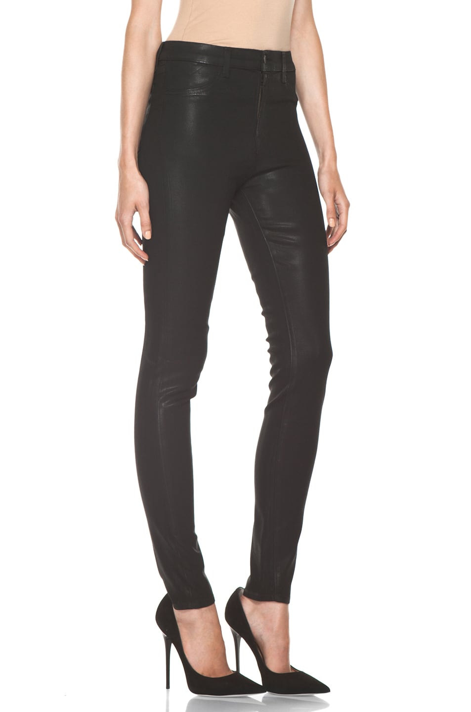 Image 3 of J Brand Maria High Rise Skinny Jean in Coated Stealth