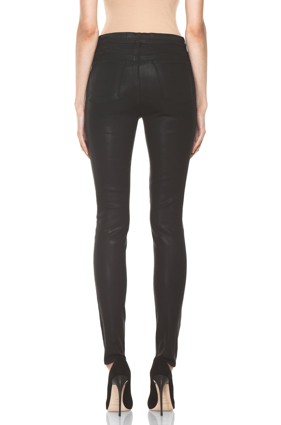 Image 4 of J Brand Maria High Rise Skinny Jean in Coated Stealth