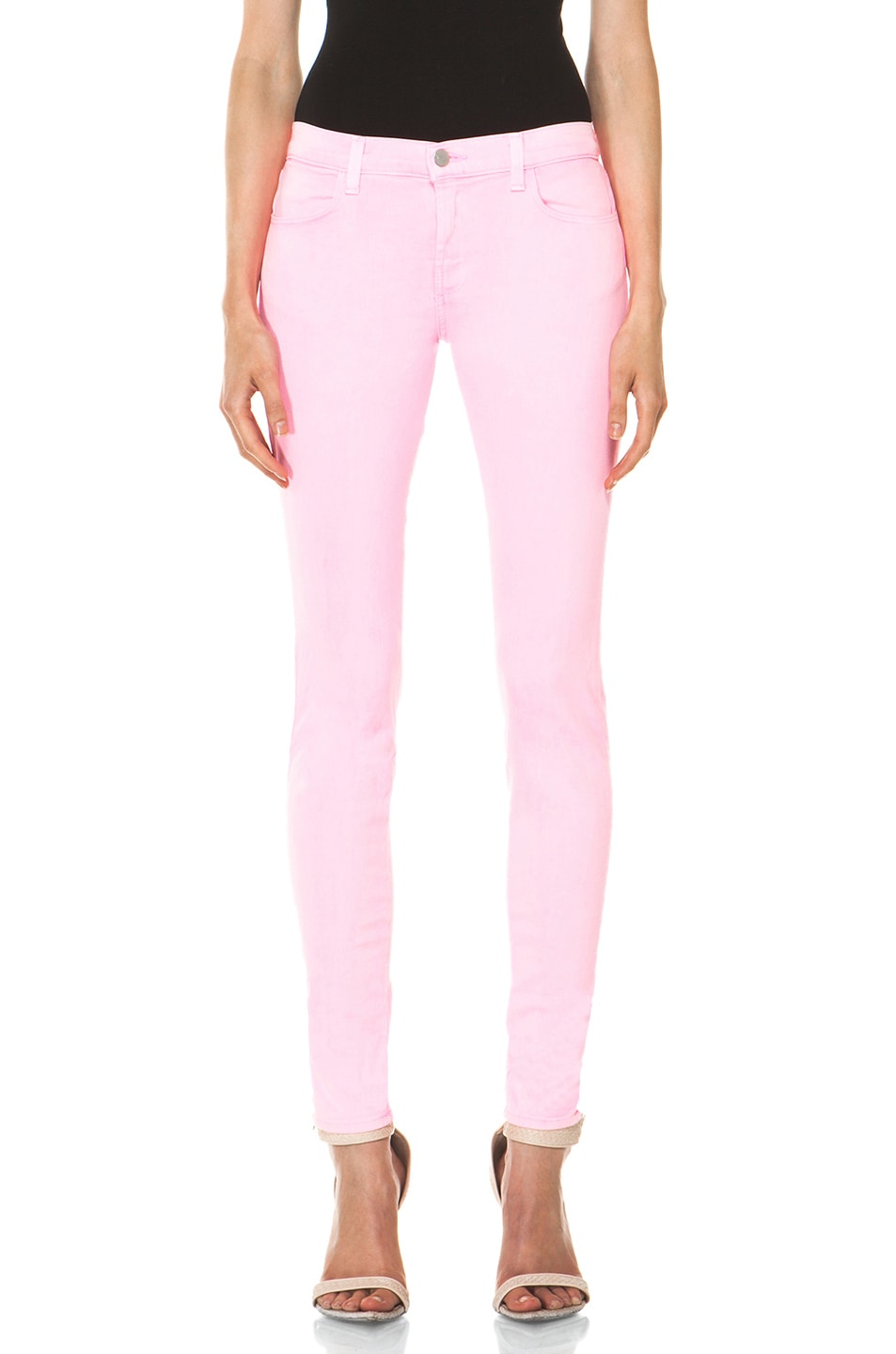Image 1 of J Brand PINK PARTY EXCLUSIVE Midrise Super Skinny in Pink Party