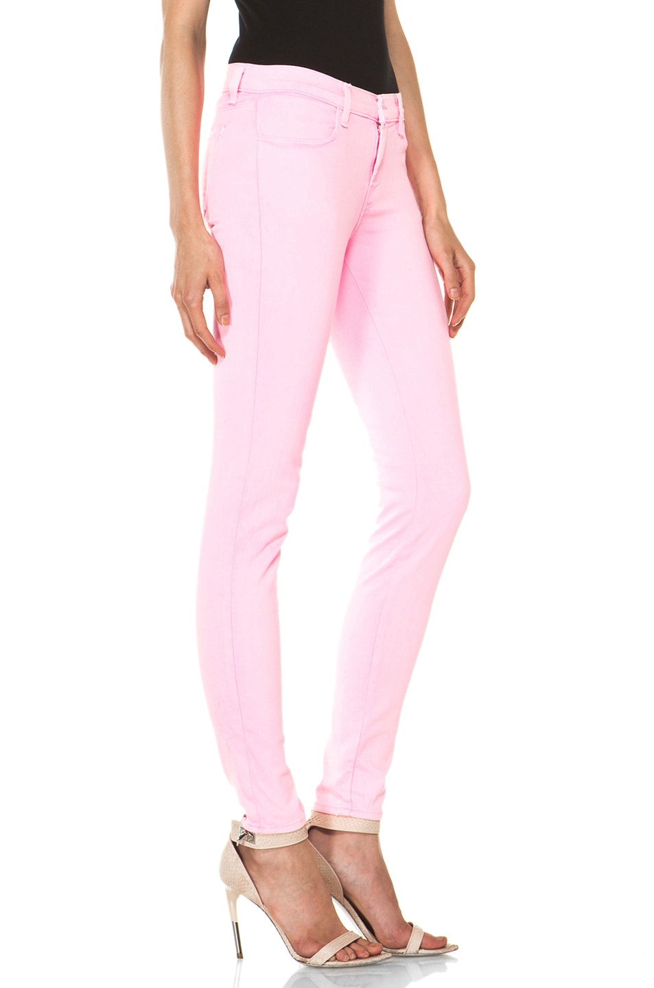 Image 3 of J Brand PINK PARTY EXCLUSIVE Midrise Super Skinny in Pink Party