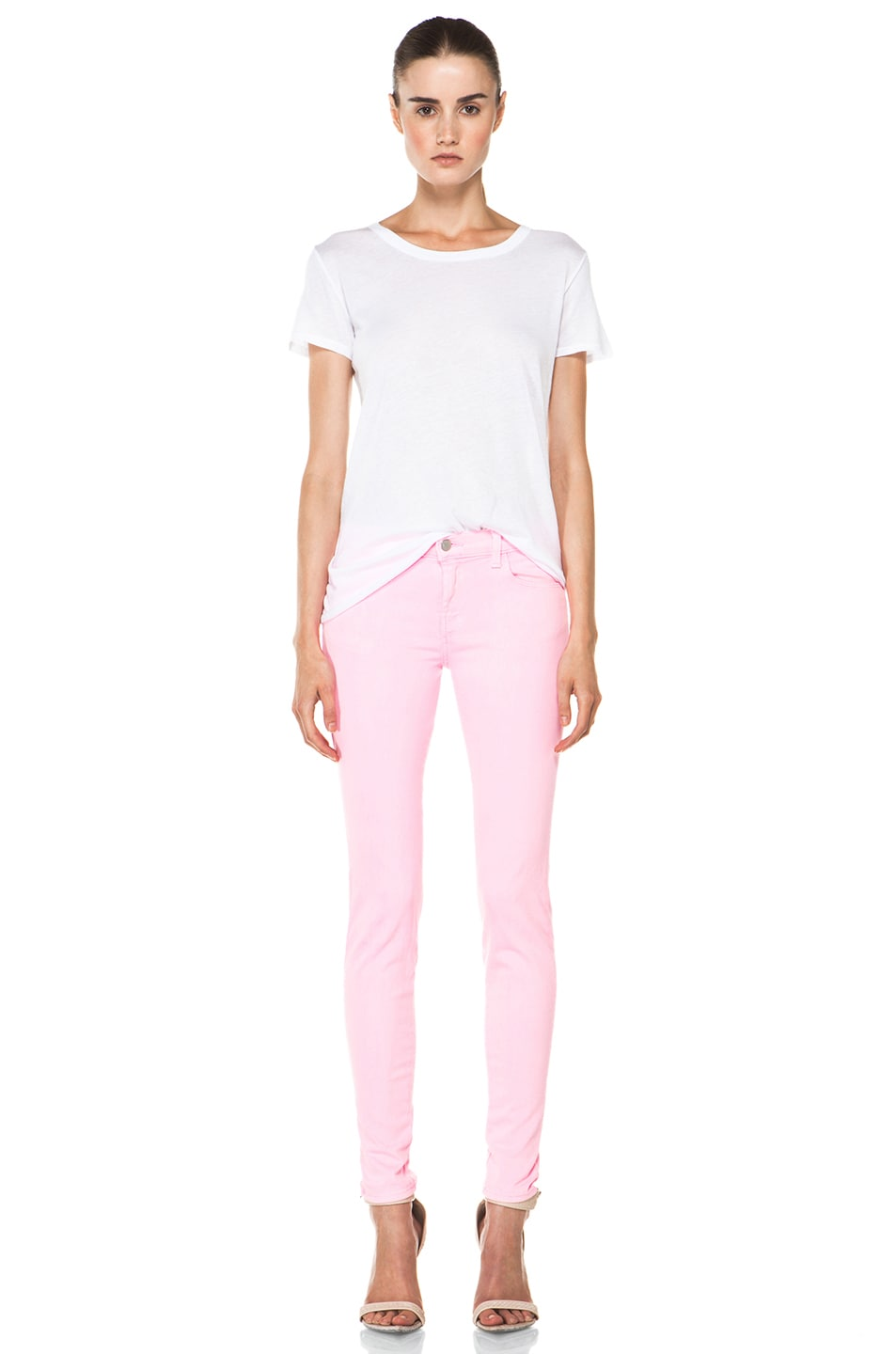 Image 5 of J Brand PINK PARTY EXCLUSIVE Midrise Super Skinny in Pink Party