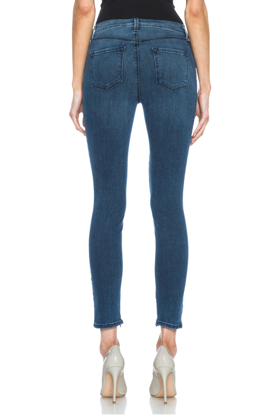 Image 4 of J Brand Maria Crop Jean with Inside Zipper in Rumor