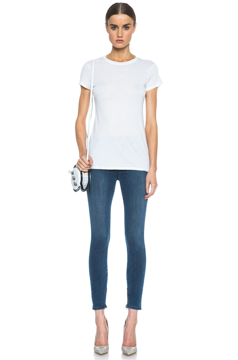 Image 5 of J Brand Maria Crop Jean with Inside Zipper in Rumor