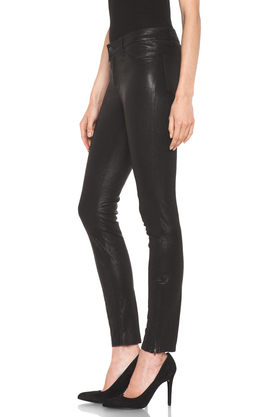 Image 2 of J Brand Leather Pant in Black