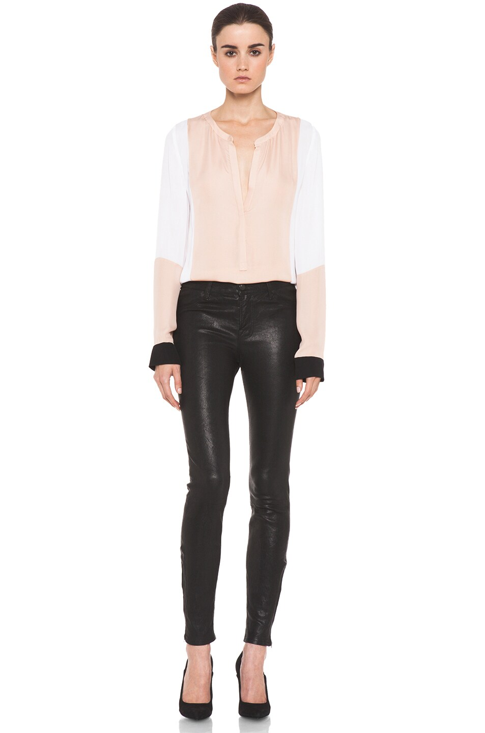Image 5 of J Brand Leather Pant in Black