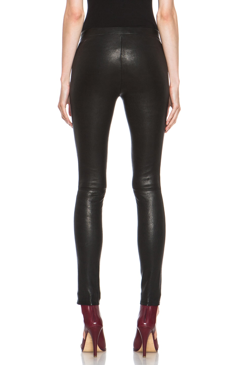 Image 4 of J Brand Lambskin Leather Leggings in Black