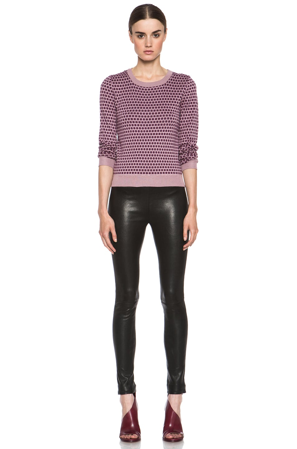 Image 5 of J Brand Lambskin Leather Leggings in Black