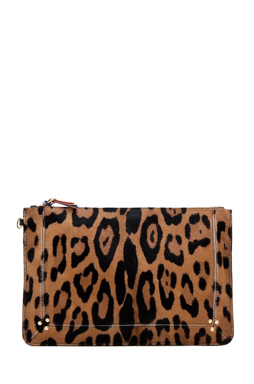 Image 1 of Jerome Dreyfuss Large Popoche Clutch in Leopard & Multi