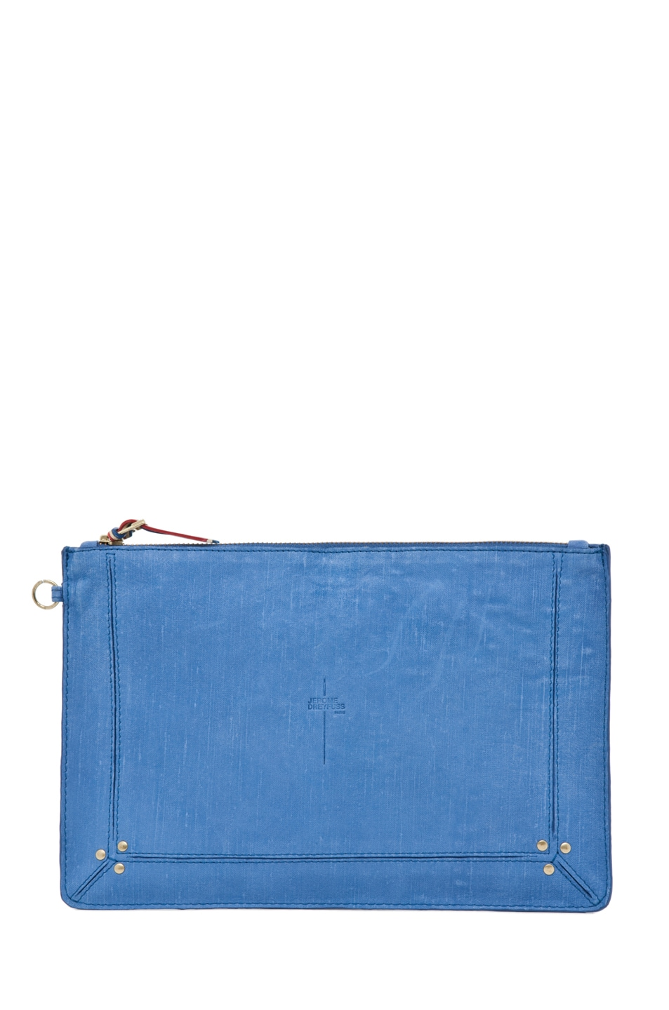 Image 1 of Jerome Dreyfuss Large Popoche Clutch in Denim Bleu