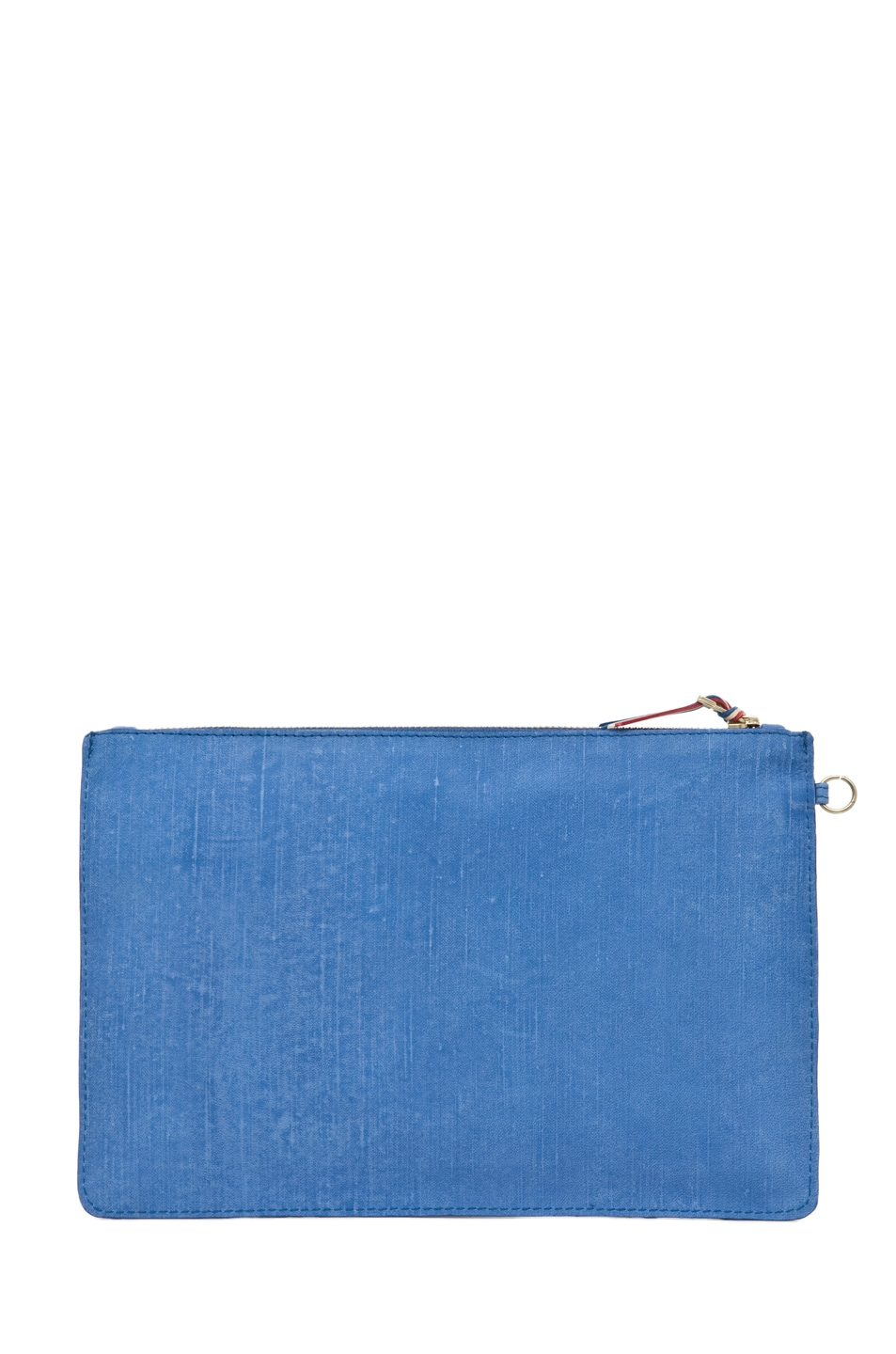 Image 2 of Jerome Dreyfuss Large Popoche Clutch in Denim Bleu